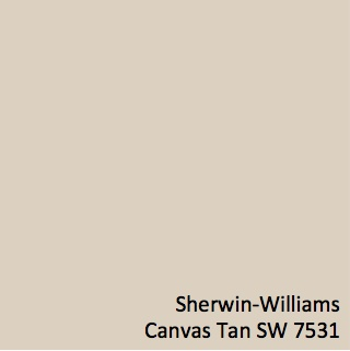 Sherwin Williams Canvas Tan SW 7531 Swatch